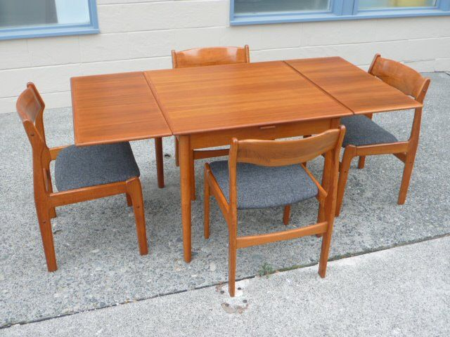 Teak Draw Leaf Table Bought At Seattle Garage Sale For 35 Chairs Not Included