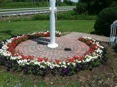 Image Result For Flagpole Landscape Ideas Flag Pole Landscaping Front Yard Landscaping Design Garden Flag Pole