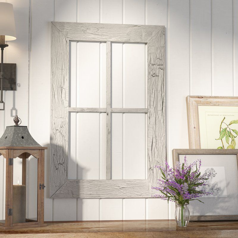 Rustic Window Frame Wall Décor   Window Frame Decor   Pinterest ...