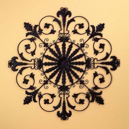 Tuscan Iron Metal Fleur De Lis Hanging Wall Grille Plaque | Metals ...