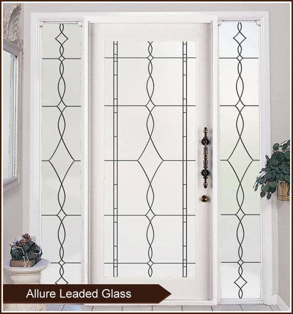 Allure Leaded Glass Privacy Window Film Static Cling Window Film Privacy Leaded Glass Frosted Window Film