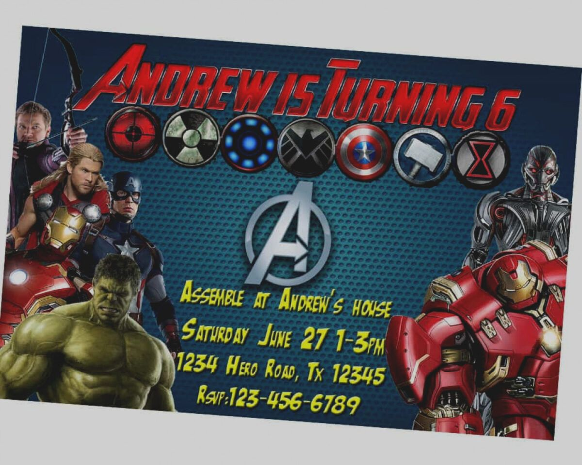 Avengers Birthday Card Template Best Happy Birthday Wishes Regarding Avengers Birthday Car Avengers Party Invitation Avengers Birthday Avenger Birthday Party