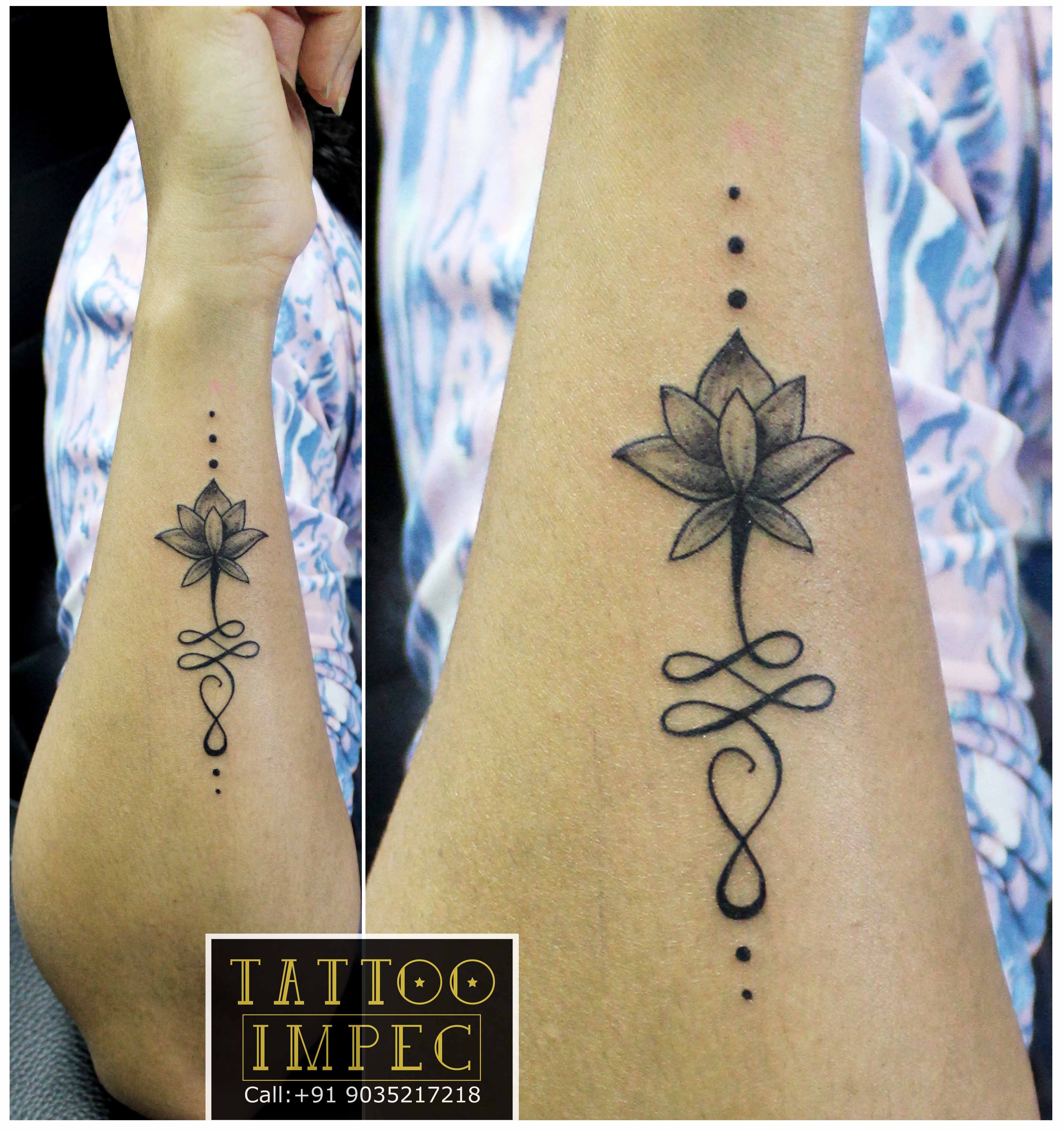 Unalome Lotus Tattoo Meaning Flower