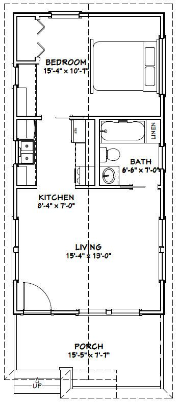 16x32 tiny house 16x32h1f 511 sq ft excellent for 16x32 house plans