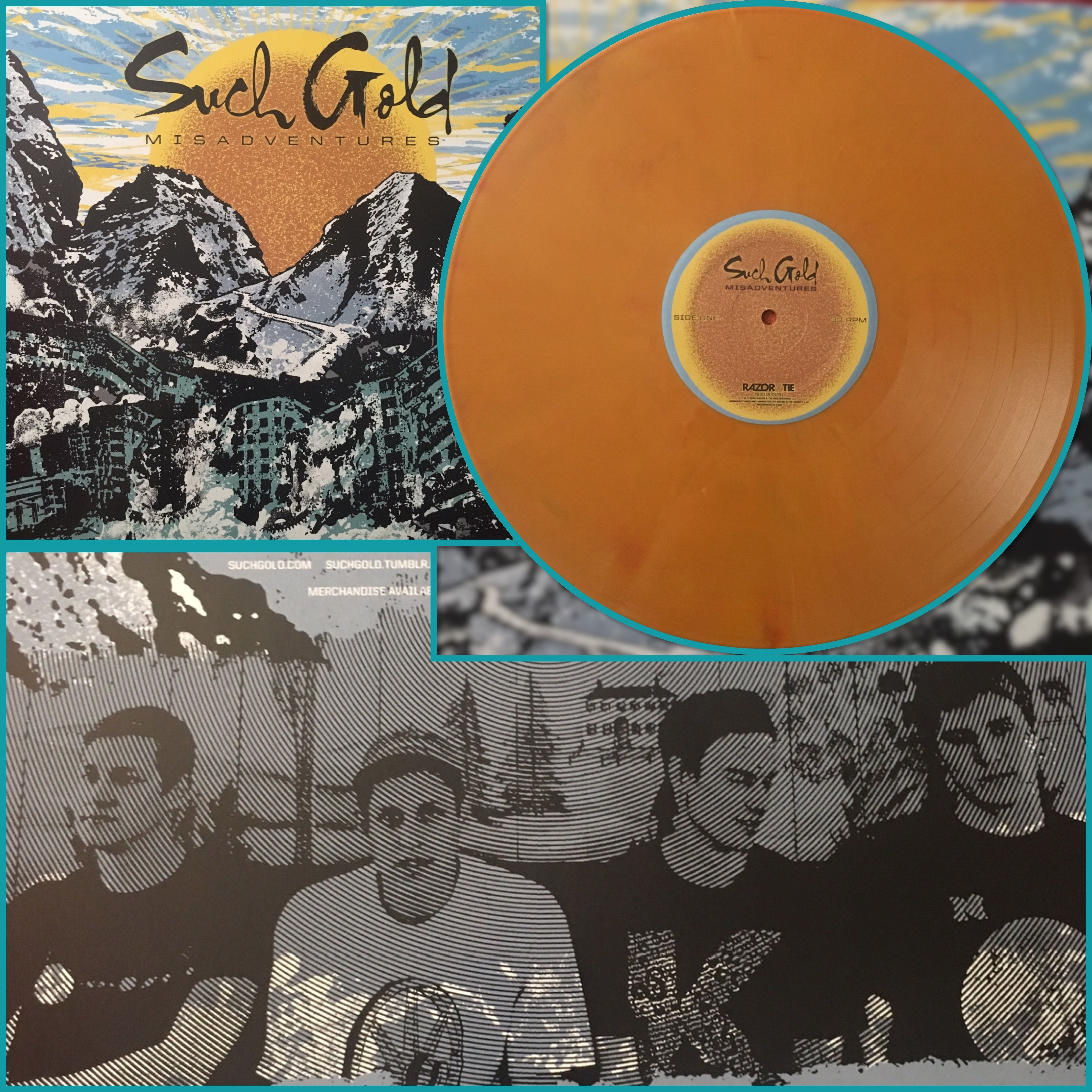 Such Gold Misadventures Orange Vinyl Pressing Record Collection Vinyl Music Record