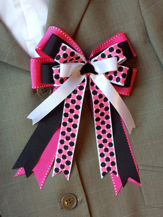 Pair of Boutique Horse Show Bows w/ Tails  by ShortStirrupBling, $25.00