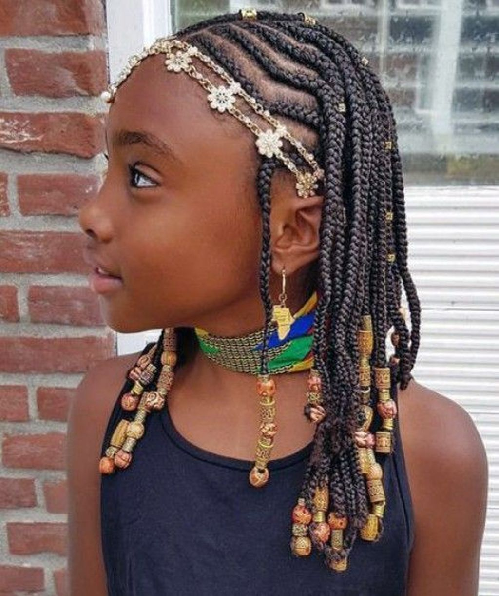 35 outstanding kids braided hairstyle ideas with beads to