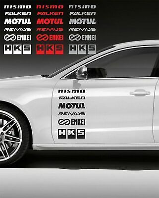 Kit 12 Adesivi Auto Aufkleber Logo Technical Sponsors Rally Car Autocollant In 2020 Car Sticker Design Bmw Volkswagen Touareg
