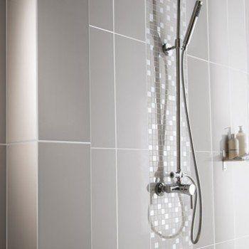 Faïence mur gris galet n°5, Loft brillant l20 x L502 cm Leroy
