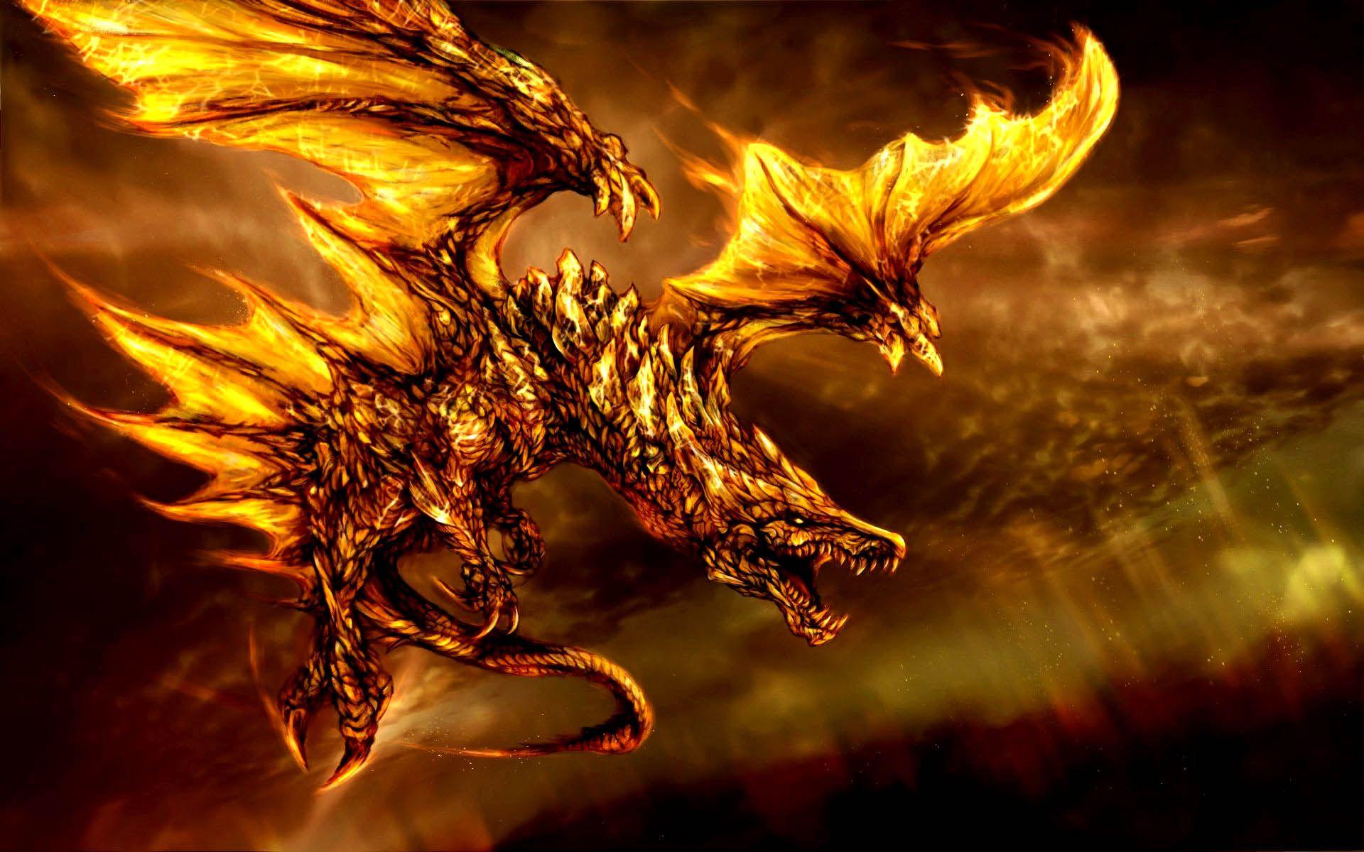 3D Fire Dragon Wallpaper