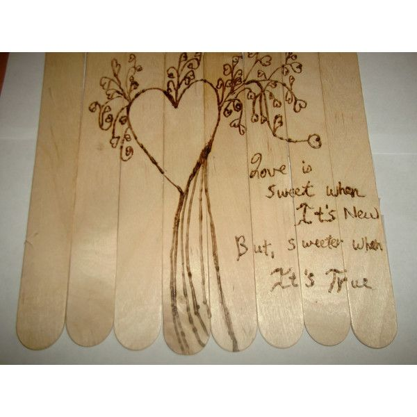Love is Sweet Rustic Wood Burned Hearts Love Quote Wall Art Can Be ...
