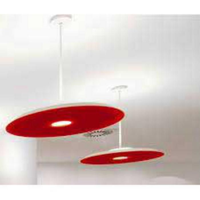 The glass shade disc on the light fixture can detach and fall.