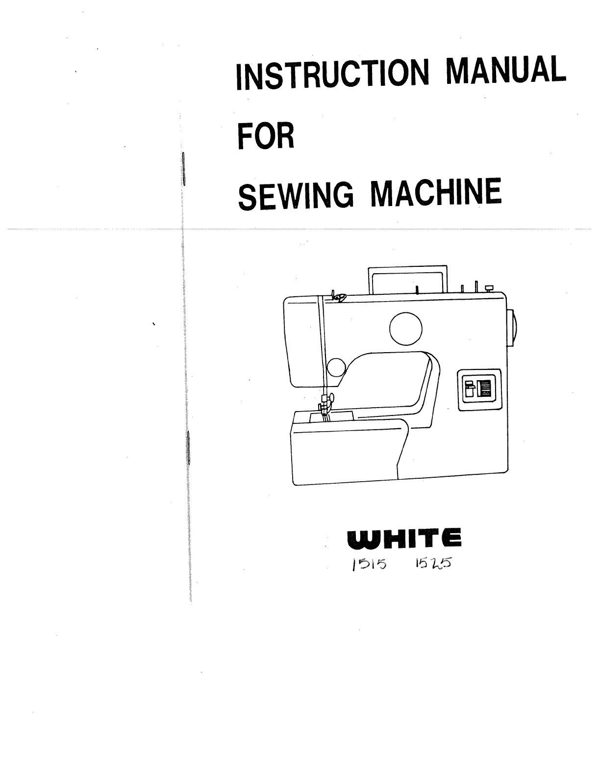 988 white sewing machine manual instructions.