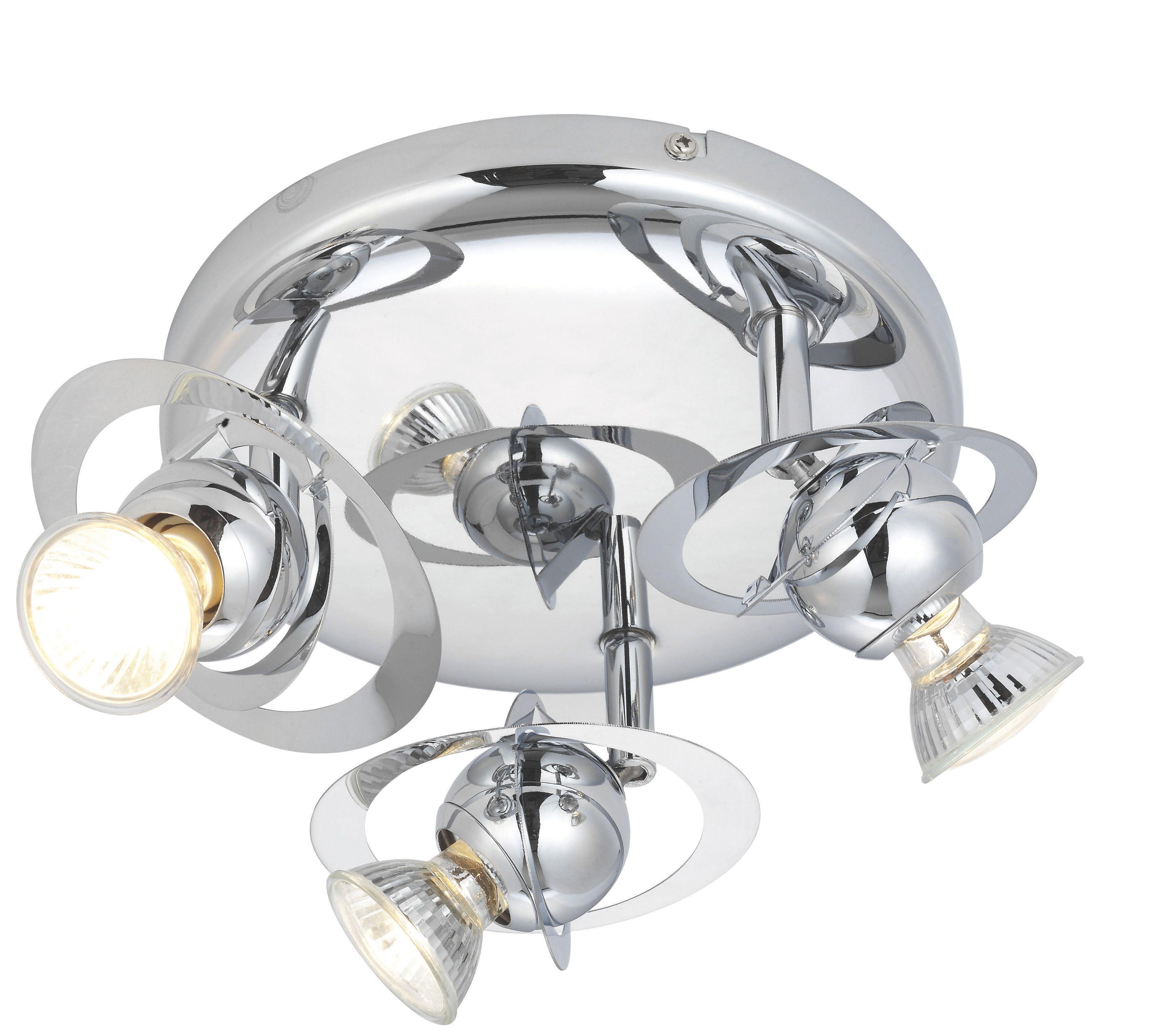 Asteroid Chrome Effect 3 Lamp Ceiling Spotlight | Departments | DIY ...