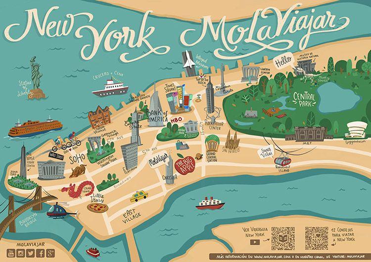 23 Ideas De Mola Viajar Mapas De Viaje Mapa Nueva York Viaje A Nueva York
