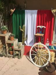 decoracion stand mexicano