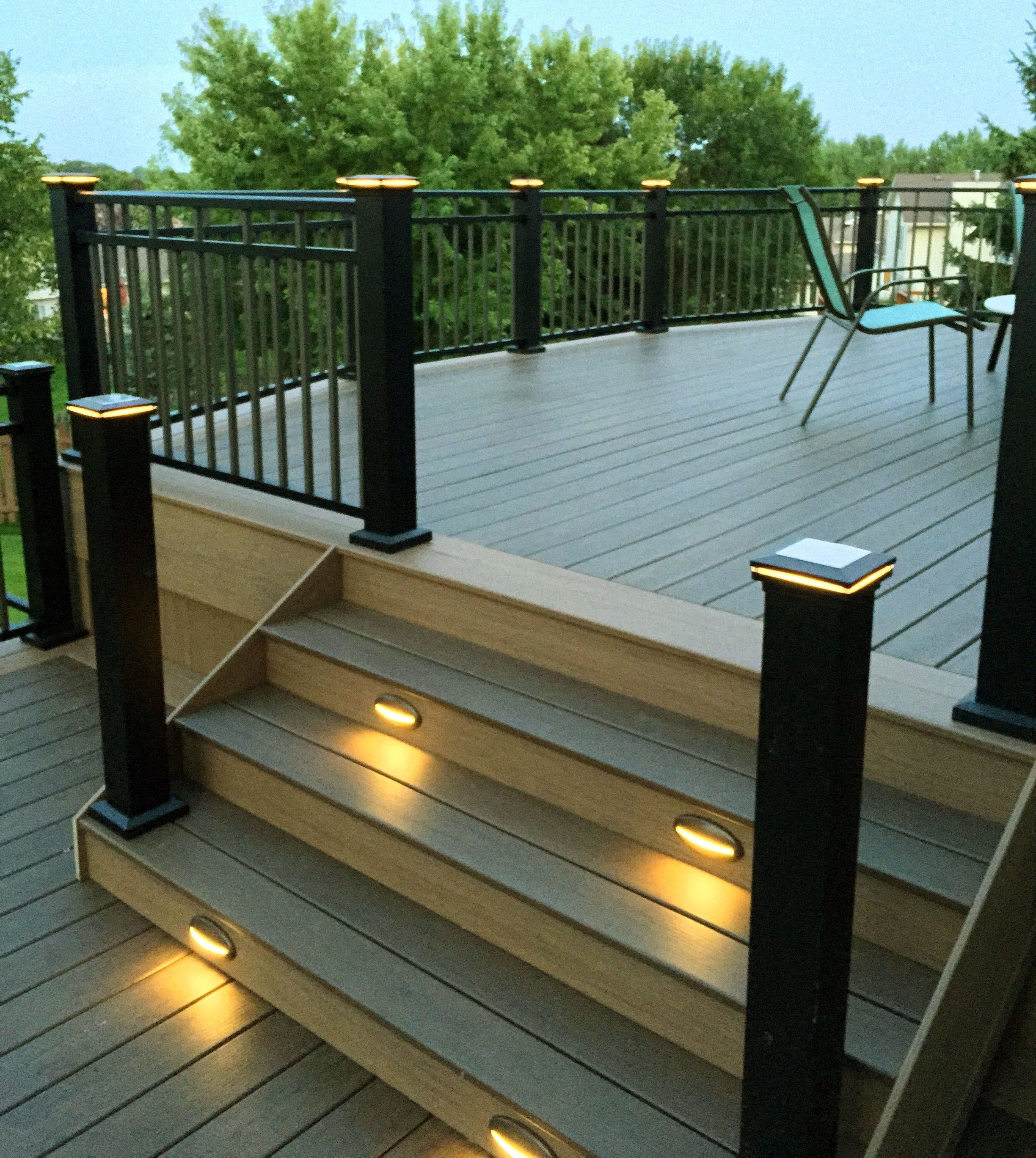 Crazy Deck Lighting Ideas Canada Only In Miral Iva Design Ome Improvement Center Or Find An Online Sol In 2020 Deck Stair Lights Deck Lighting Outdoor Deck Lighting