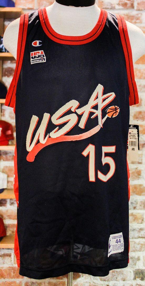 Vintage Hakeem Olajuwon  15 USA Basketball Jersey (44)  1c4a546dc