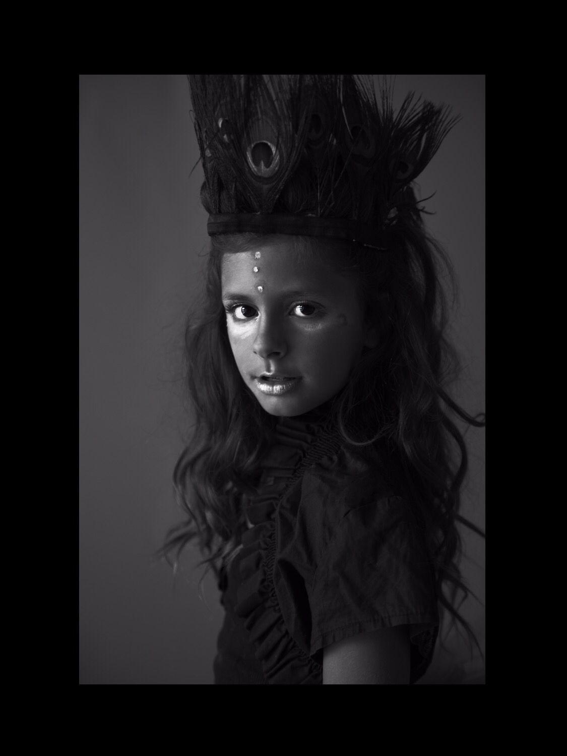 Model Brooklyn - photographer Misti Van Zandt w/ VanZandt Studios  #photography #child #tribal #portrait #vanzandtstudios #model #pose #concept #styled #kidmodel #girl #blackandwhite #lighting #pictures #mini #highfashion #commercial #editorial #feathers #photographer #brooklyn #houseofbrooklyn