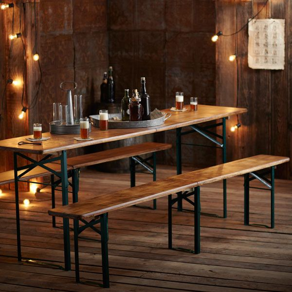 Our Roost Biergarten Folding Table And Benches Are Based On The Traditional German StyleWarm
