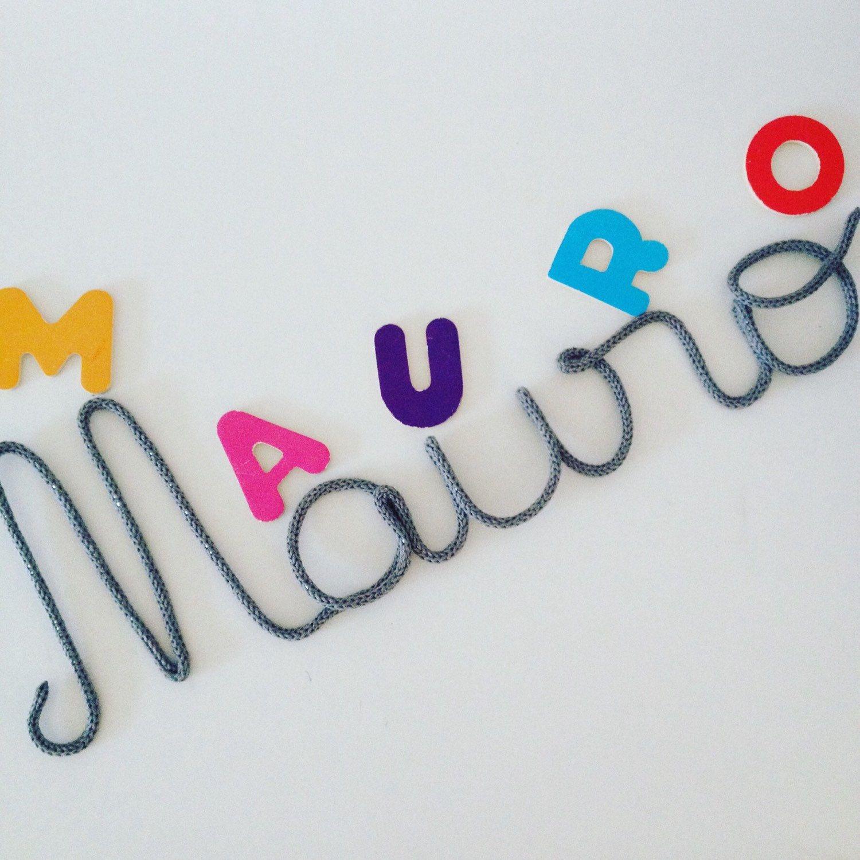 Prénom En Laine Prénom En Tricotin Les Mots Mumzl Pinterest
