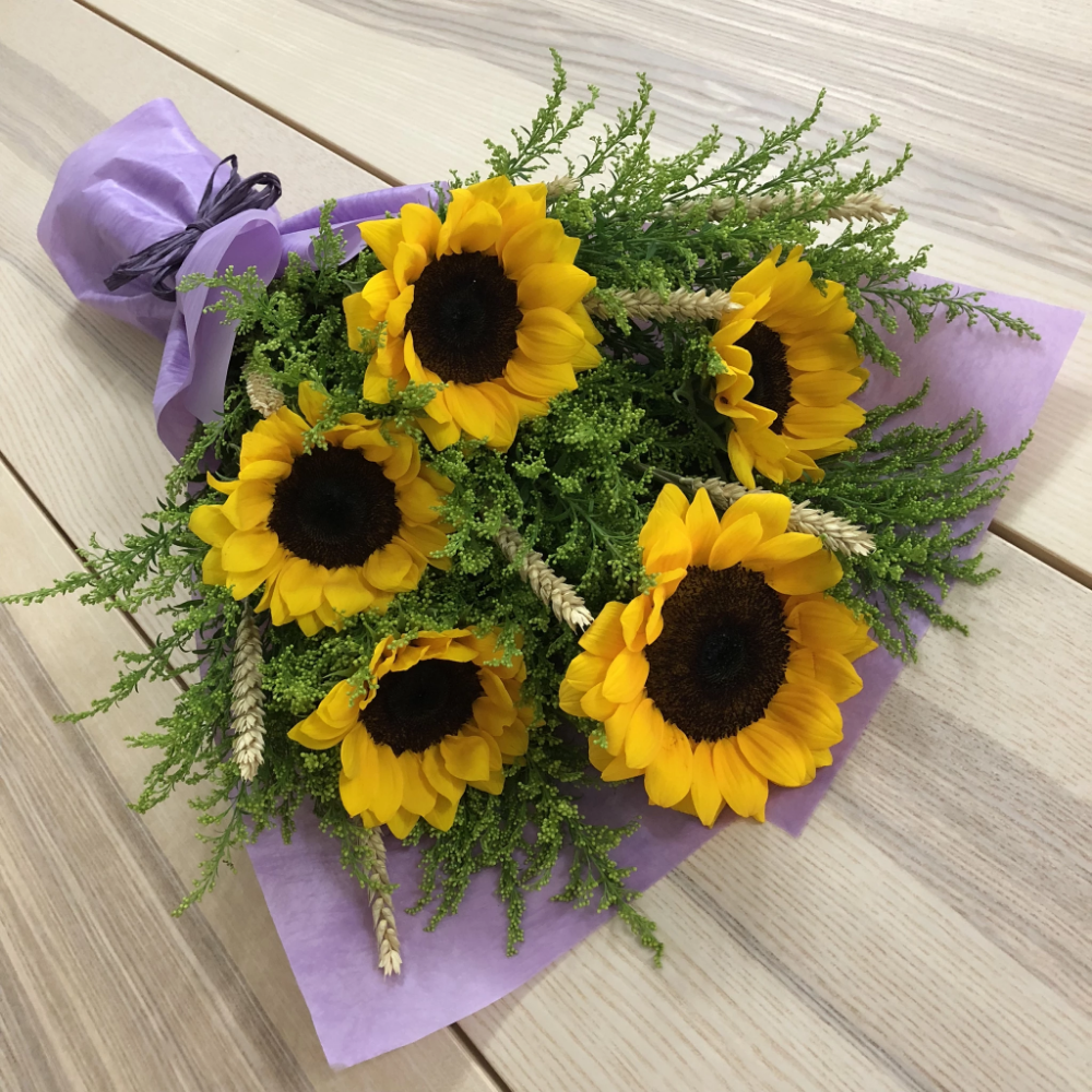 5 Sunflowers Gold Phoenix Wheat Infinity Flowers Singapore Flowers Singapore Red Rose Bouquet Pink Rose Bouquet