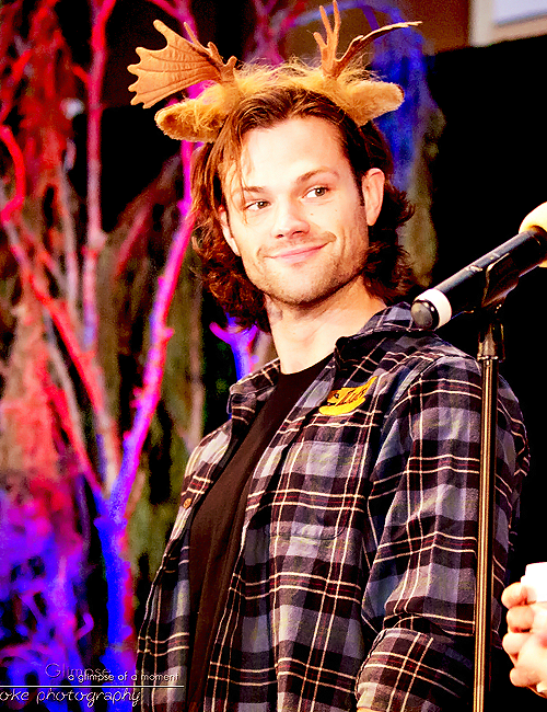 Cuteness overload! #JaredPadalecki #BurCon2013 Love this man for his silly attitude to himself and his ego :)