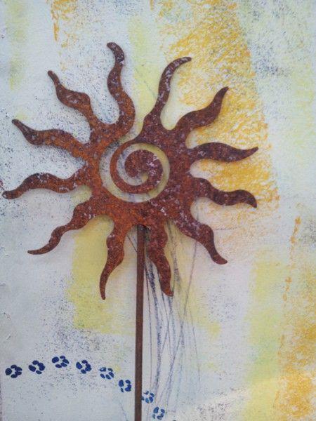 Gartenstecker Sonne