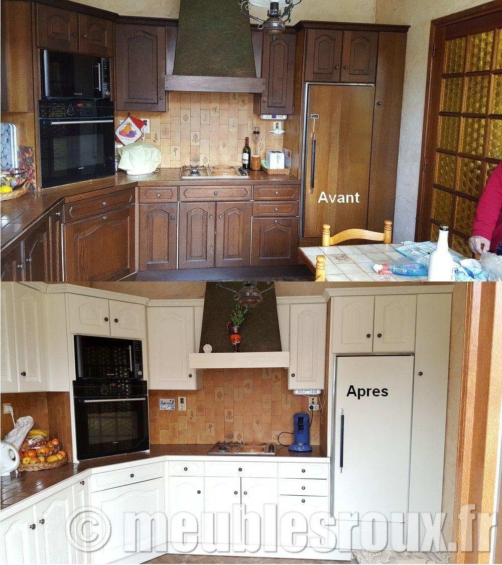 Peinture Laquee Pour Meuble De Cuisine relooking d'une cuisine en chêne teintée et vernie, pour