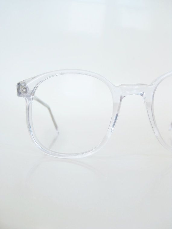6e97b634d45 Vintage 1960s Clear Round Eyeglasses Womens P3 Frames USA American Made 60s  Transparent Crystal Mod Mid Century Circular Indie Hipster Chic