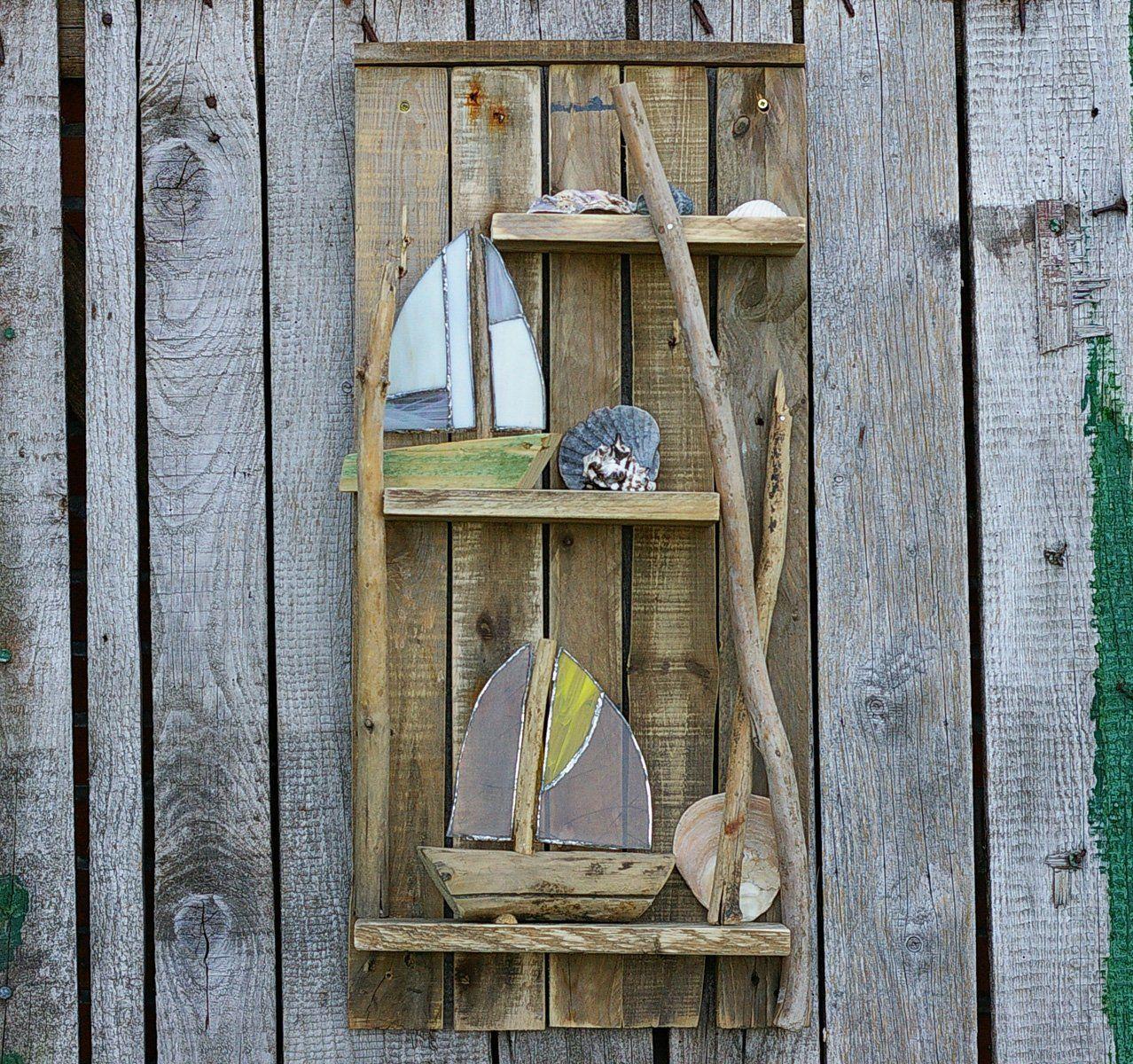 Wandregal Palettenholz Regal Treibholz Bord Holz
