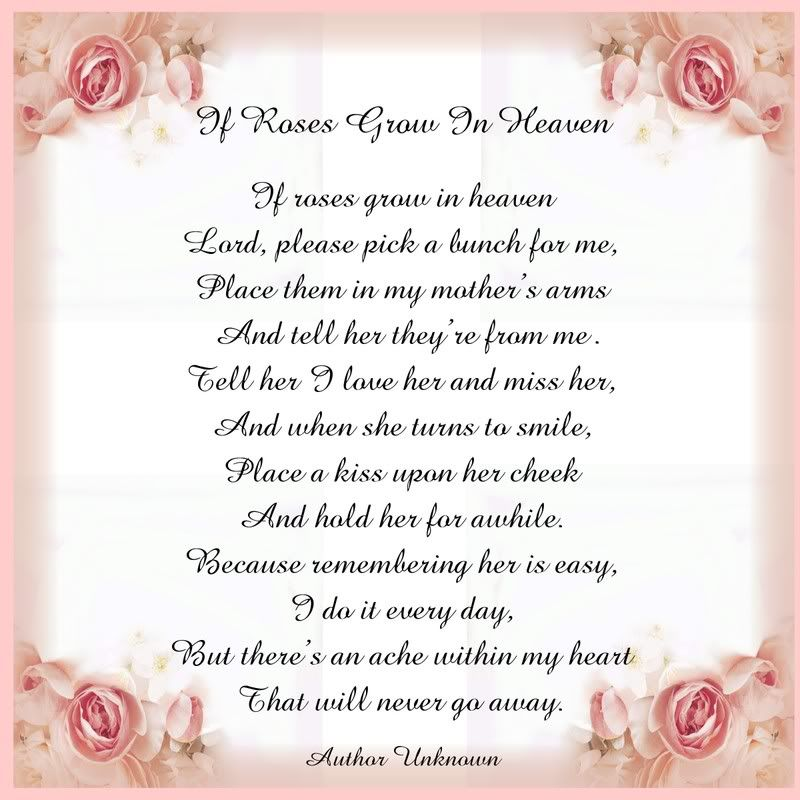 Missing My Mom In Heaven Quotes Captivating Mother In Heaven Poem .view Topic  Printable Tile Poem If