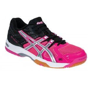 Chaussures Gel Rocket 6 Asics Femmes noir/rose 45.50€ sur handball-store
