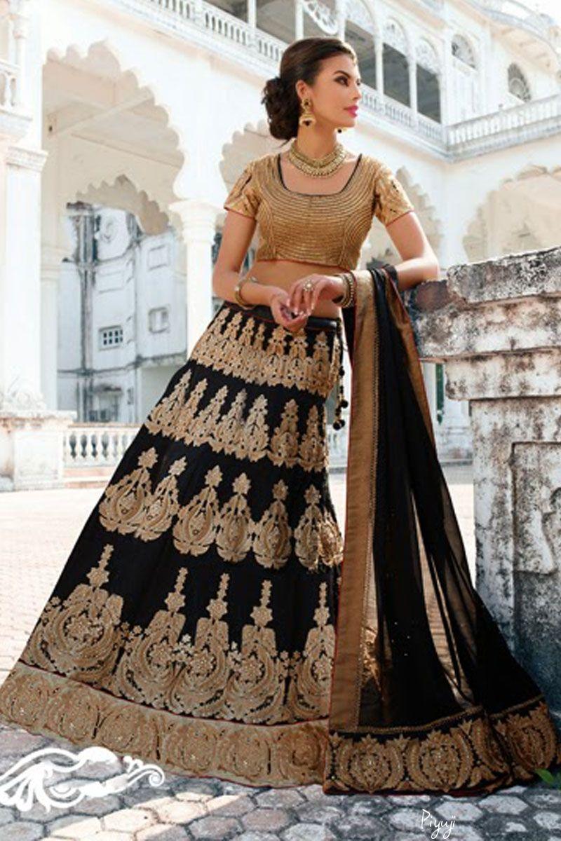 creamd and black color lehengac Choli  @piyuji fashion