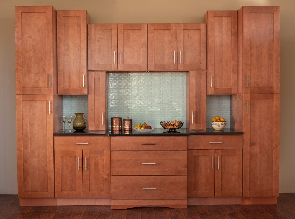 walnut shaker discount assembled kitchen cabinets
