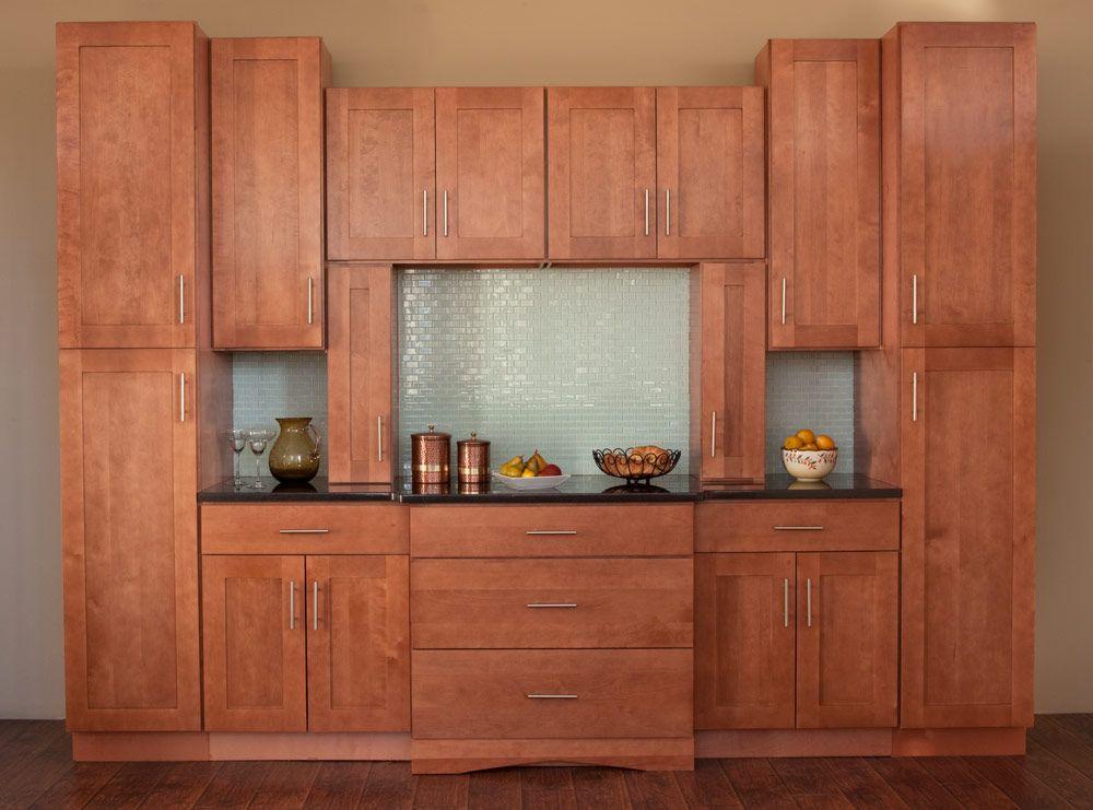 Walnut Shaker Discount Assembled Kitchen Cabinets