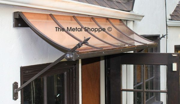Custom Window Or Door Awnings In Copper Steel Made For You