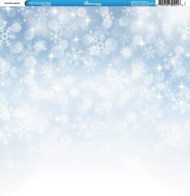 More Snow Scrapbook Paper 5 Sheets by Reminisce Winter is Coming