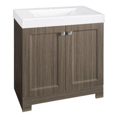 Glacier Bay Shaila 305 Inw Bath Vanity In Silverleaf With Alluring 30 Bathroom Vanity With Top Review