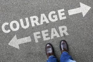 Courage And Fear Risk Safety Future Strength Strong Business Man