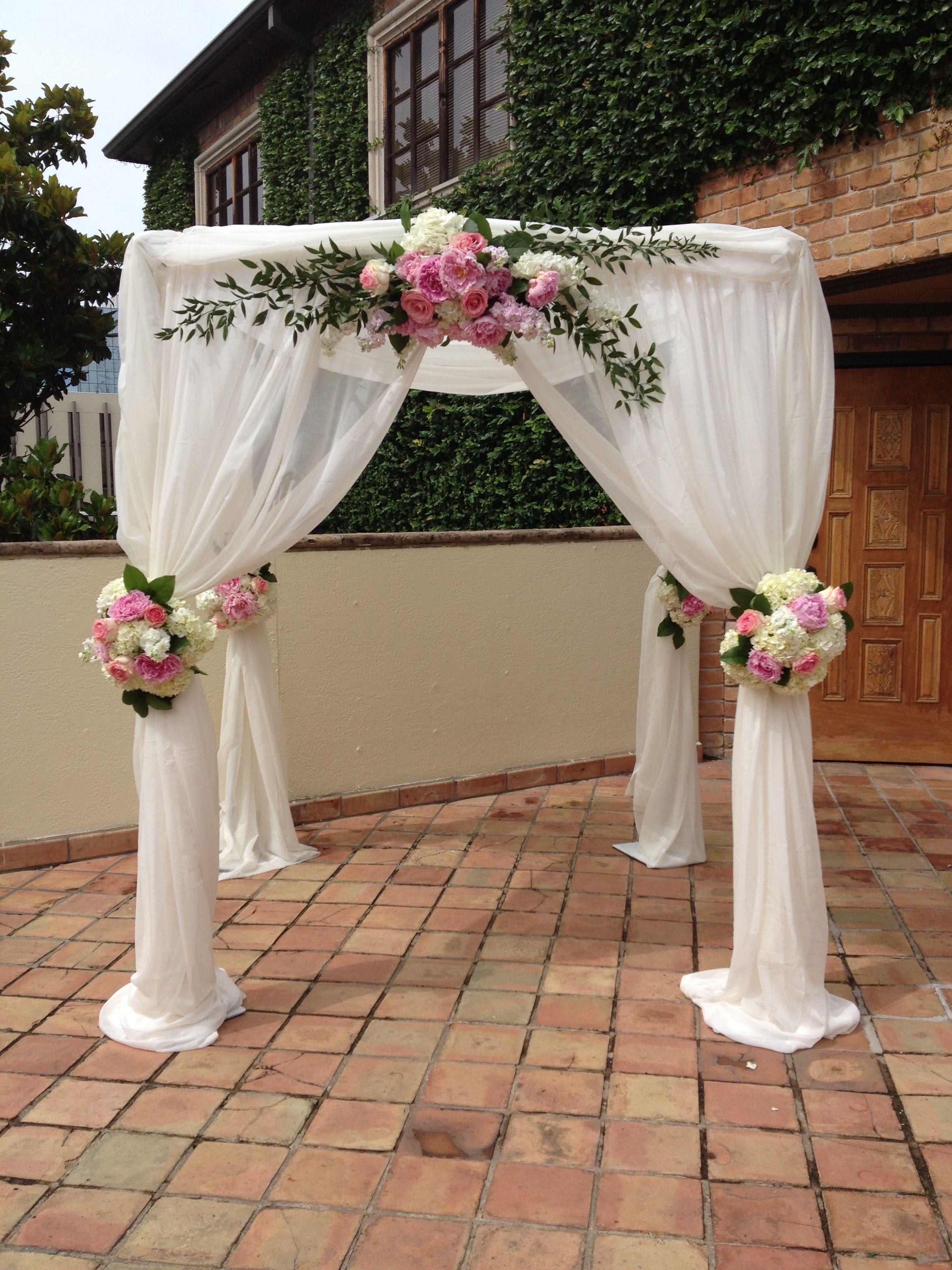 Wedding Gazebo - over sweetheart table at reception ...