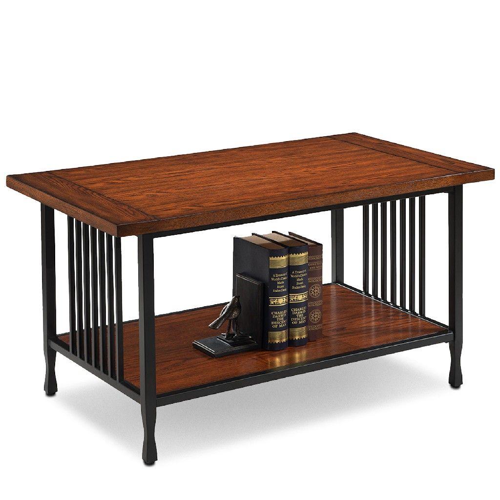 Ironcraft Condo Apartment Coffee Table Leick 11203 In 2021 Coffee Table Oak Coffee Table Coffee Table Rectangle [ 1024 x 1024 Pixel ]