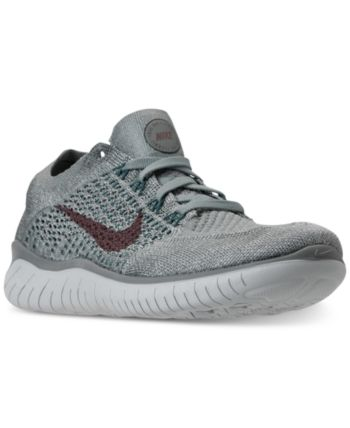 eb2a8495b684 Nike Women s Free Run Flyknit 2018 Running Sneakers from Finish Line -  Green 9.5