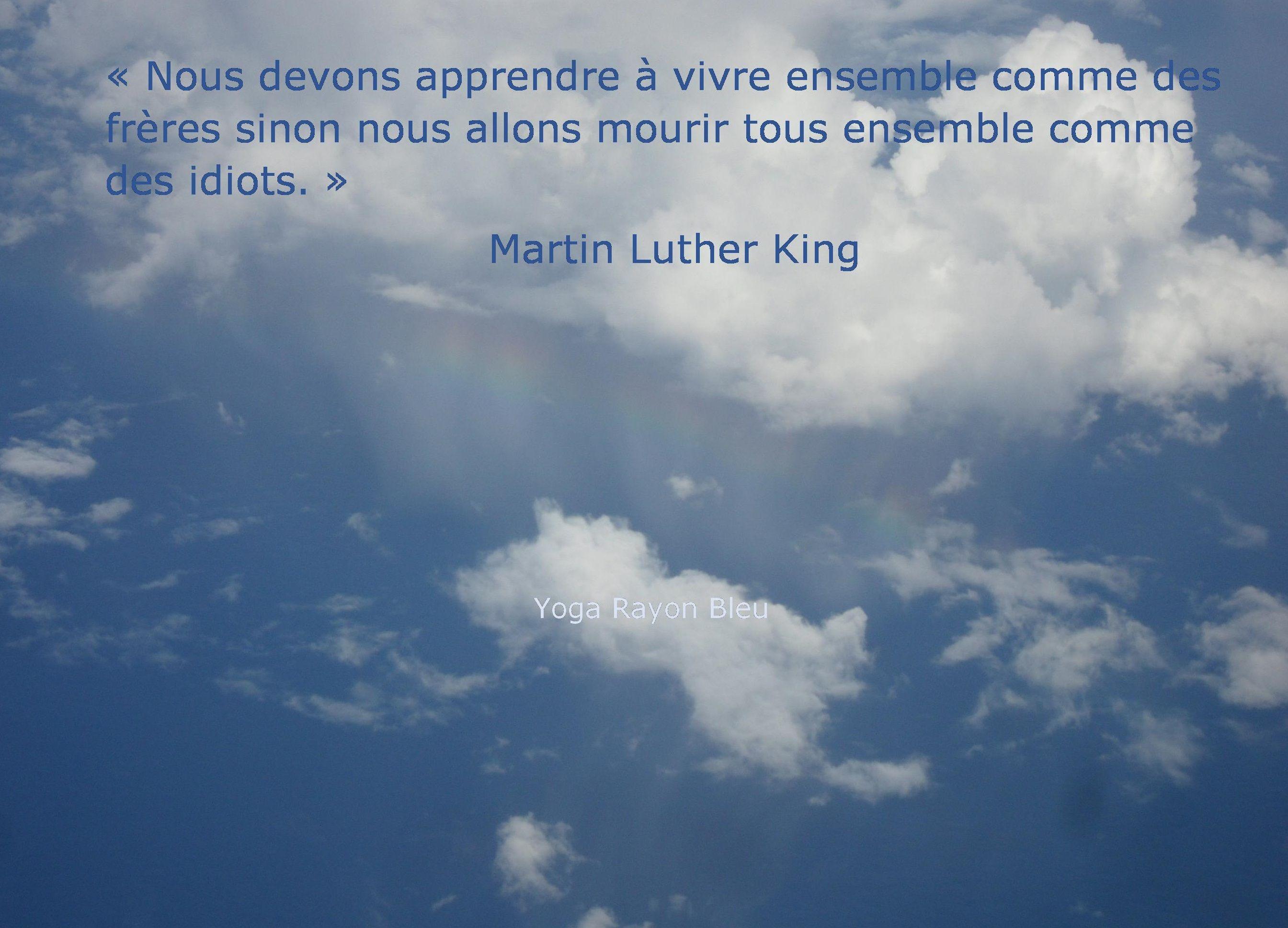 Citation Martin Luther King Photo Ciel Au Dessus Ocean Indien