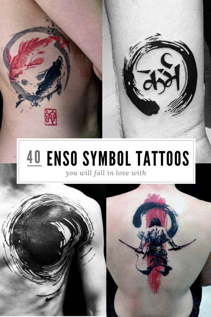 Die bedeutungsvollen enso tattoos kalligraphie tattoo