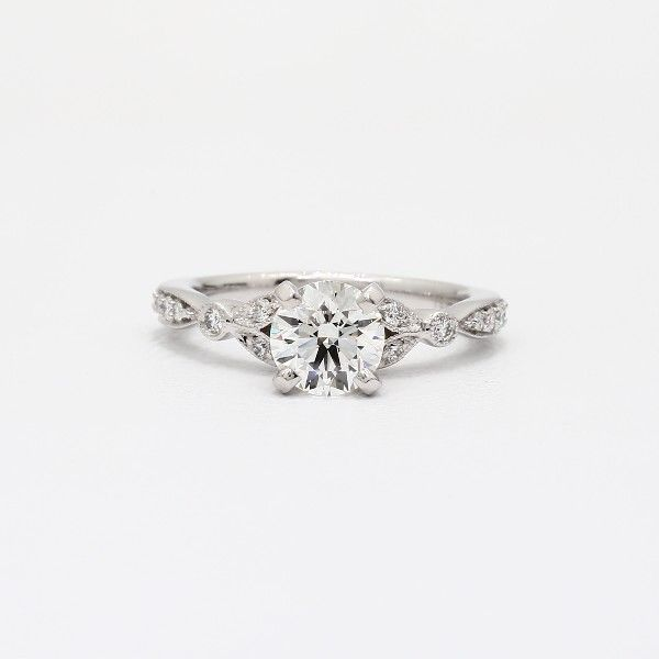 Blue Nile Petite Diamond Ring in 14k White Gold (1/5 ct. tw.)