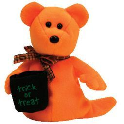 TY Beanie Baby - HAUNTED the Orange Ghost Bear (Borders Exclusive) (6 inch)