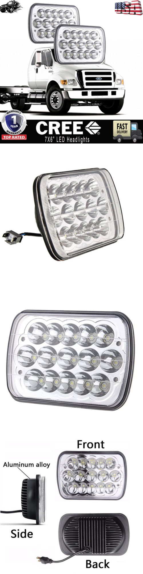 hight resolution of car lighting 7x6 led headlight upgrade for ford super duty truck f550 f600 f650 f700 f750 buy it now only 65 0