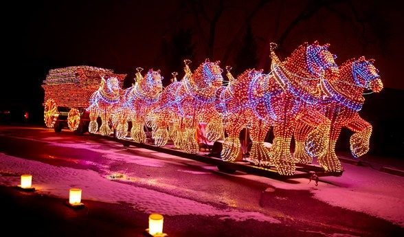 The East Peoria Festival of Lights is a favorite tradition of families  across the Midwest! The two mile holiday-themed drive includes dazzling  displays. - The East Peoria Festival Of Lights Is A Favorite Tradition Of