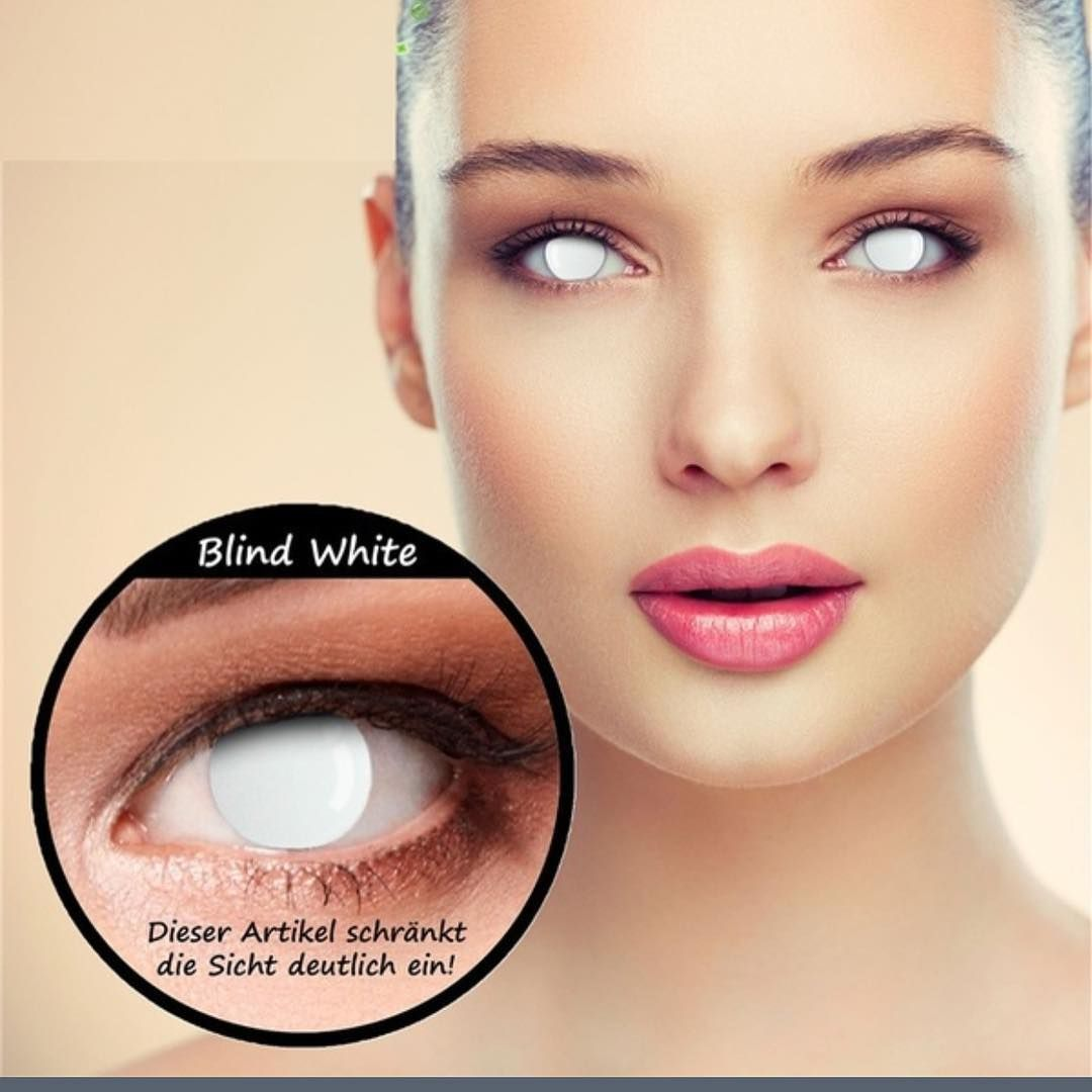 Blind White Halloween Contacts In Stock #coloredcontacts